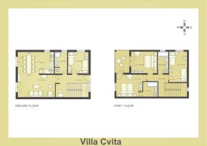 Ground plan of the Villa Cvita