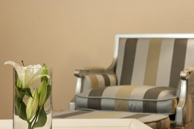 Flower arrangement and comfortable sofa in Villa Cvita