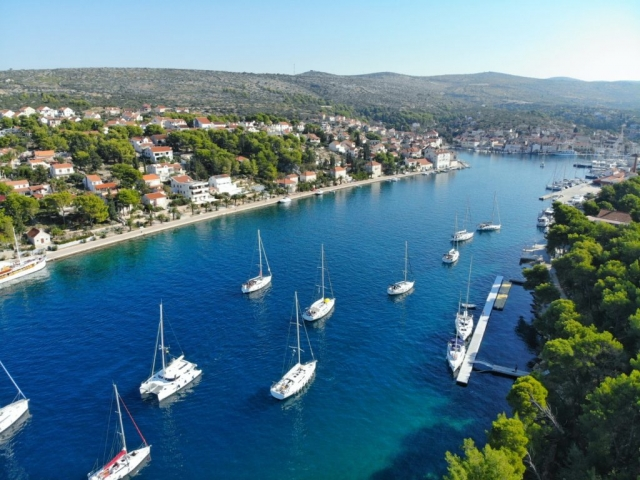 Sunshine bay of Hvar